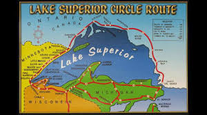 Lake Superior Map Lake Superior Circle Tour On Vimeo