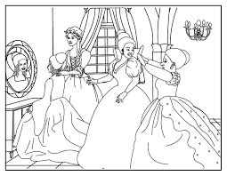 coloring pages cinderella coloring 2