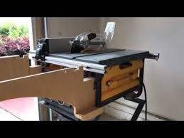 dewalt table saw extension installing the dewalt outfeed table youtube
