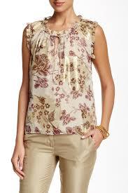 dvf blouse diane furstenberg rebekah floral print silk blend blouse