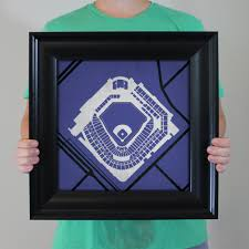 Coors Field Map Coors Field Map Art City Prints