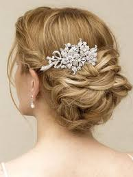 robin rhinestone flower bridal hair comb hair