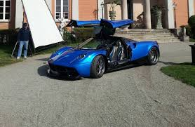 blue pagani epic pic blue pagani huayra front side view doors up sssupersports