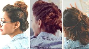 non hairstyles 3 quick and easy hairstyles for short hair no heat required