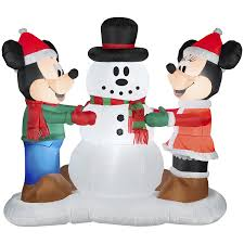 blow up thanksgiving decorations mickey mouse and friends outdoor christmas inflatables christmas