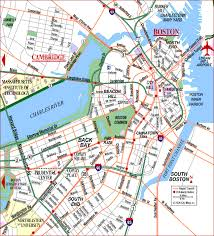 road map massachusetts usa map of boston bos logan international airport charles river