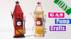 easy popsicle stick crafts for kids diy gas pump ice cream stick