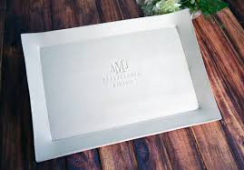 engraved platter wedding gift wedding gift engagement gift or signature guestbook platter