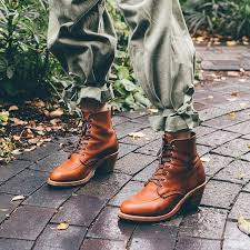 womens boots wing a feminine take on the wing moc toe the clara boot is