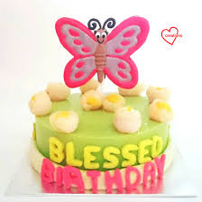 loving creations for you butterfly giant macaron on lychee rose