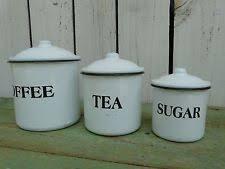 enamel kitchen canisters enamel canister set ebay