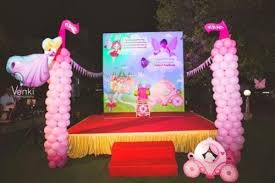 stage decor princess theme birthday party in r s puram