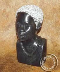 Zimbabwe Soapstone Carvings African Soapstone Hand Carved Tribal Female Bust Head Zimbabwe