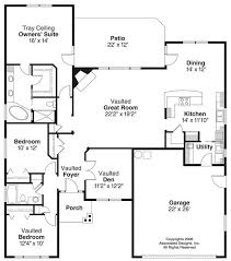 Floor Plans For Small Houses With 3 Bedrooms House Plans 1100 1400 Square Feet 3 Bedroom 1 Story 2 Car