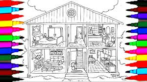 coloring pages bathroom l bedroom l dining room l washroom drawing