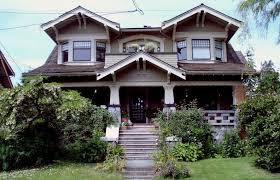 craftsman style exterior trim red brick combined beige wall dark