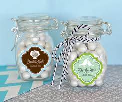 wedding favor jars personalized mod pattern theme glass jar with swing top lid small