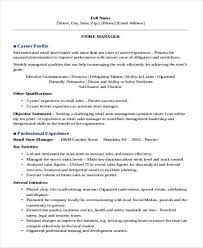 resume examples for retail management nurse manager resume
