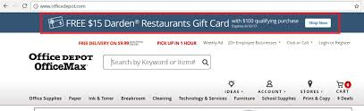 darden restaurants gift cards 15 darden gift card with 100 purchase at office max office