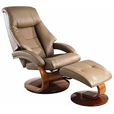 Leather Armchair With Ottoman Amazon Com Mac Motion Oslo Leather Swivel Recliner With Ottoman