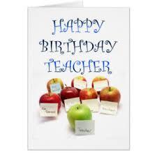 teacher birthday greeting cards zazzle co uk