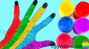 learn colors for children body paint finger family song nursery