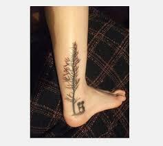 evergreen tree 17 tree on leg tree thigh tattoos