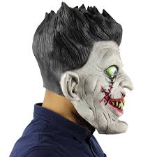 buy best latex full head scary zombie mask horror toothy ghost