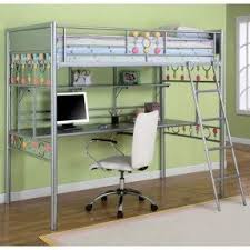 Loft Bed Without Desk Metal Bunk Bed With Desk Foter