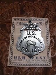 us bureau of colorado silver badge u s bureau of indian affairs