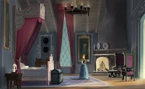 early concept for anna u0027s bedroom frozen concept art