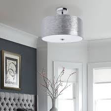 flush mount drum light providence semi flush mount silver minimalist ceiling drum light