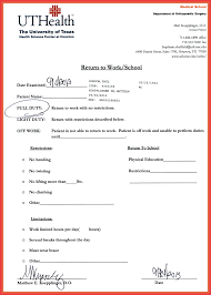 example doctors note urgent care note memo example