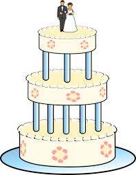 drawing of three level wedding cake public domain vectors