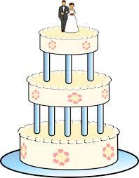 drawing of three level wedding cake public domain vectors