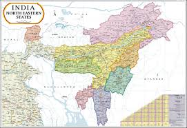 India Political Map by Buy North East India Map Book Online At Low Prices In India