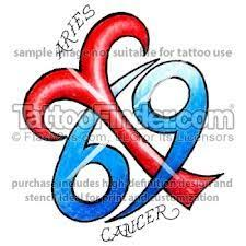 image result for aries and cancer combined tattoo tattoos