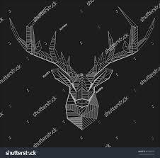 vector geometrical stag reindeer illustration low stock vector
