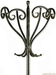 antique standing coat rack tour detail of the wrought iron