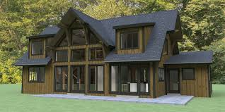 Front View House Plans Grand View Model By Mid Atlantic Timberframes Mywoodhome Com
