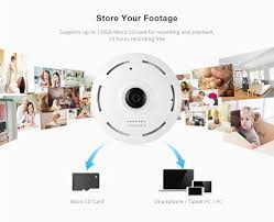 hd fisheye ip camera wifi 960p 360 degree mini wifi camera 1 3mp