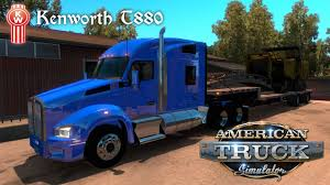build your own kenworth truck american truck simulator kenworth t880 w step deck trailer youtube