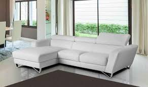 White Italian Leather Sectional Sofa Sparta Mini Italian Leather Sectional Sofa In White Free