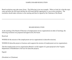 doc 460595 board resolution sample u2013 board resolution template