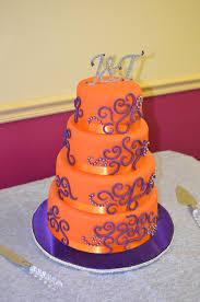 orange and purple wedding cake cakecentral com
