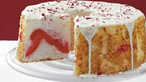 candy cane angel cake recipe bettycrocker com