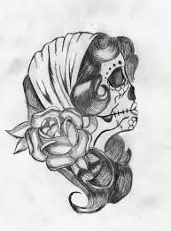 dia de los muertos girly sugar skull tattoo design in 2017 real