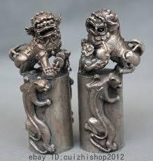 pixiu statue china fengshui silver foo dog lion pixiu guardion statue
