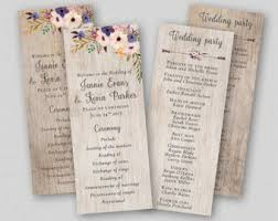 Diy Wedding Ceremony Program Diy Wedding Programs Etsy