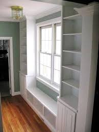 Window Seat Bookshelves Under Window Bookcase Bench Diy Seat And Built Ins Project S